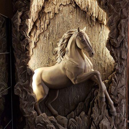 Барельеф Пещерный конь