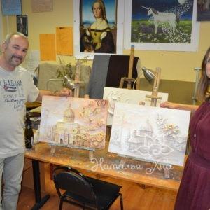 Индвидидуальный мастер-класс по барельефу для Оливера и Галины