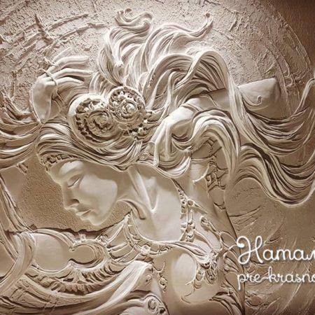 Фрагмент барельефа русалка