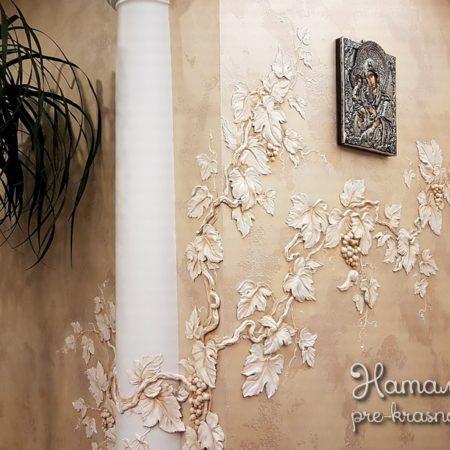 Лепнина Виноград на стене