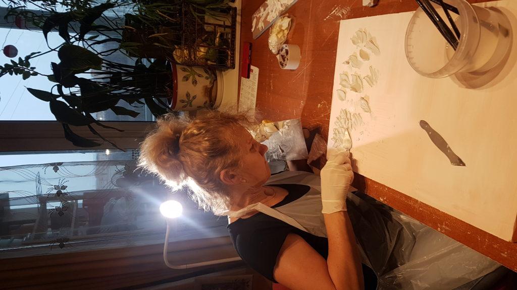 Однодневный мастер-класс по барельефу для Ольги Ошиваловой