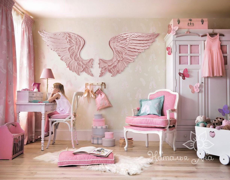 Крылья Ангела, гипсовый декор.