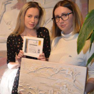 Наталья Хна с ученицей после мастер-класса