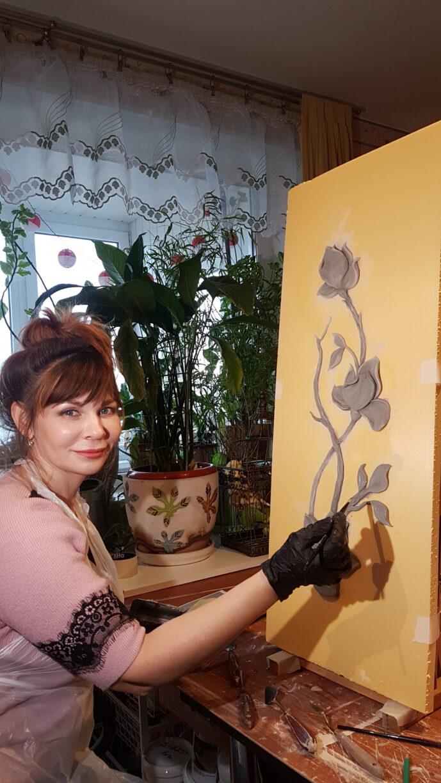 20200224 164754 689x1224 - Мастер-класс цветочный барельеф для Виктории Сазоновой