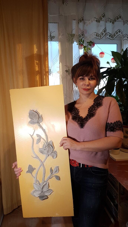 20200224 171932 689x1224 - Мастер-класс цветочный барельеф для Виктории Сазоновой